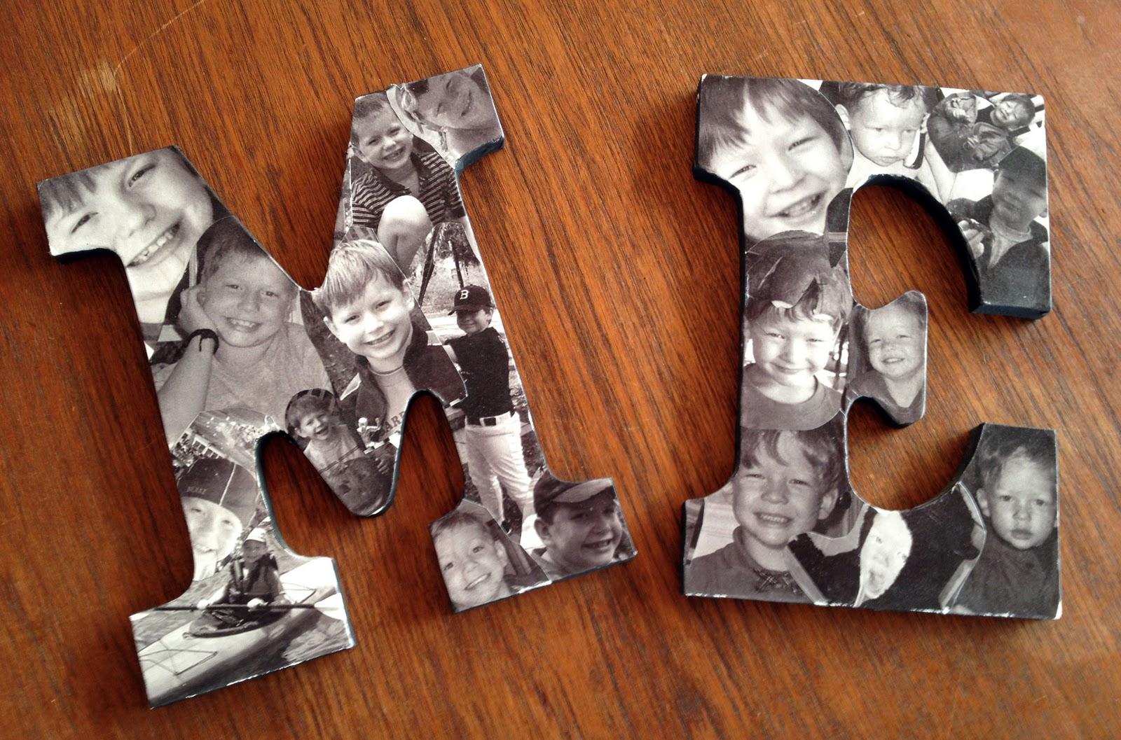 Cartas de colagem de fotos DIY