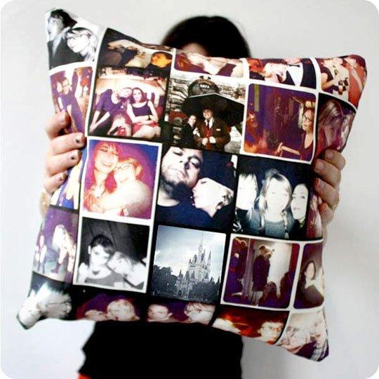 Colagem de fotos PIllow DIY