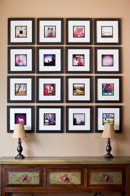 DIY emoldurado colagem de fotos