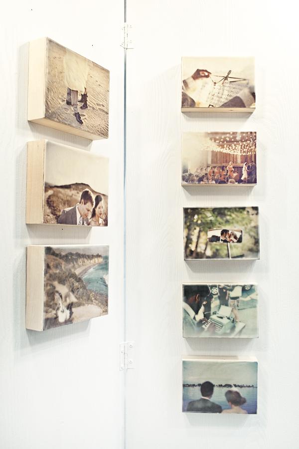 Colagem de fotos em painel de cera de abelha faça você mesmo