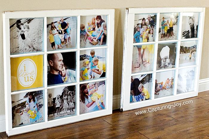 DIY Window Photo Collage
