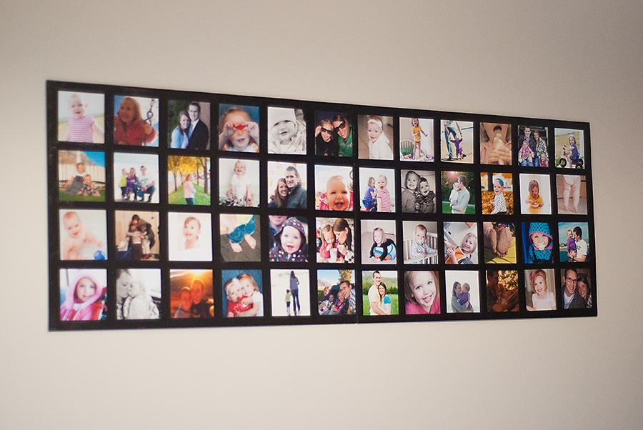 Faça uma moldura simples para colagem de fotos