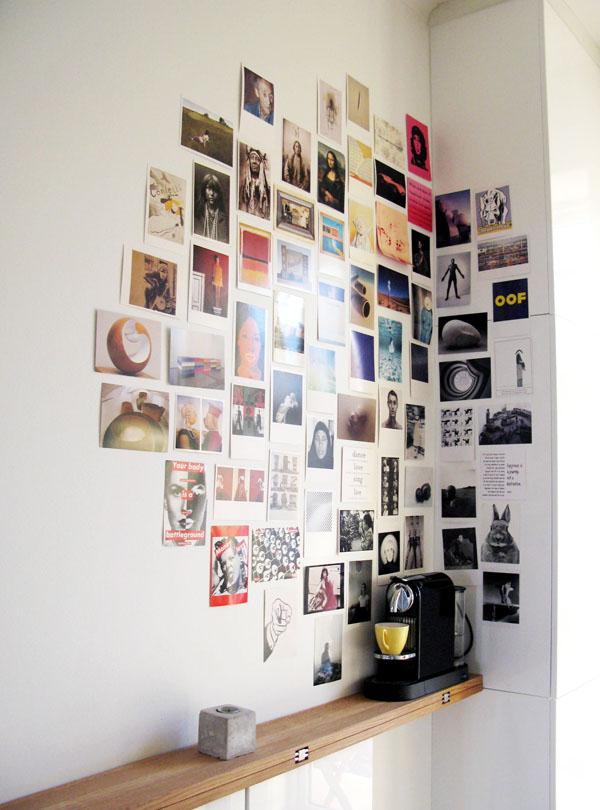 Canto de colagem de fotos DIY
