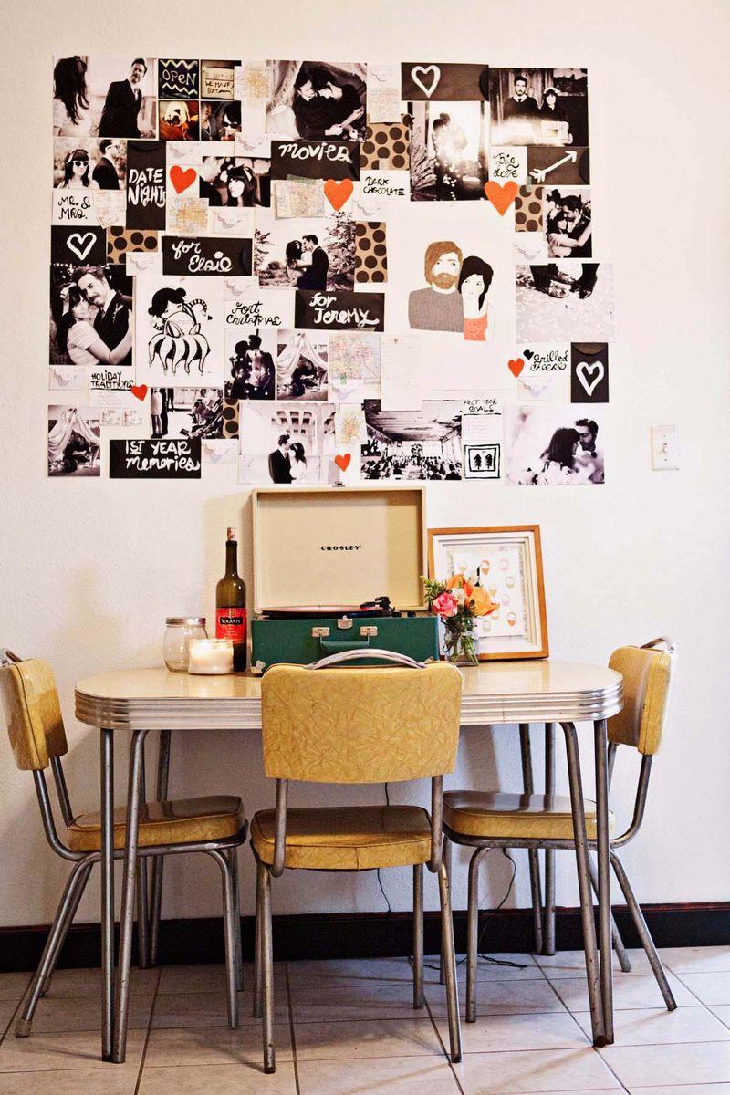 Colagem de fotos de cozinha faça você mesmo