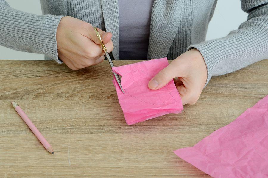 Tira larga de tecido com folha de cabaça faça você mesmo