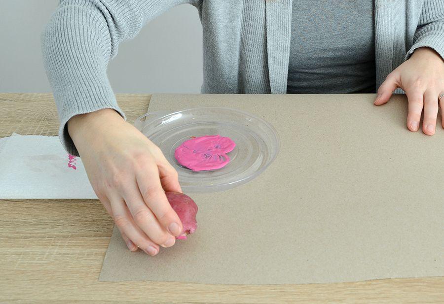 Excesso de cartão-presente impresso à mão DIY