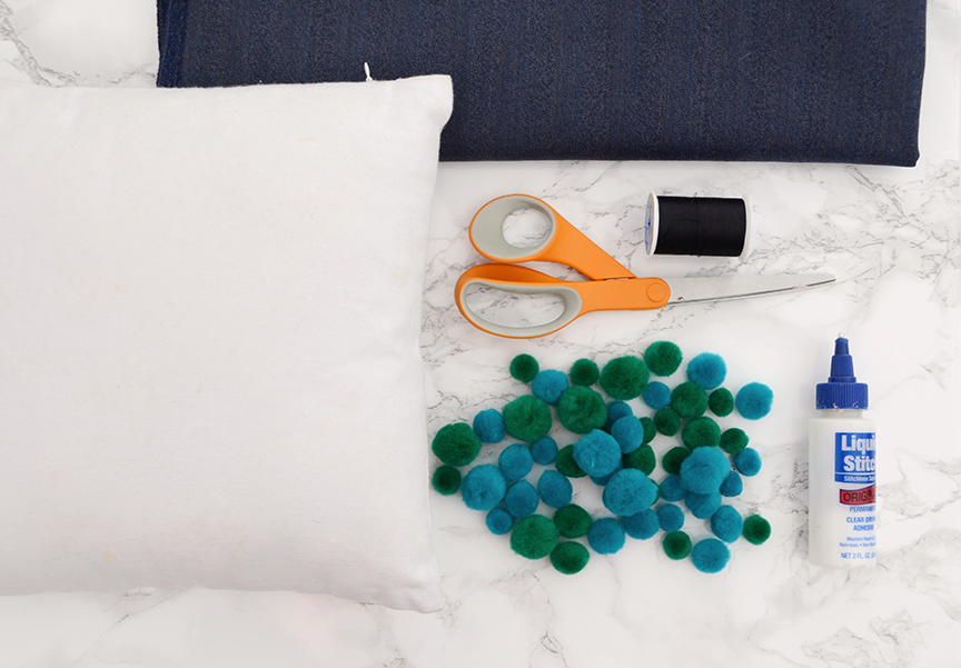 Materiais de travesseiro DIY Pom Pom
