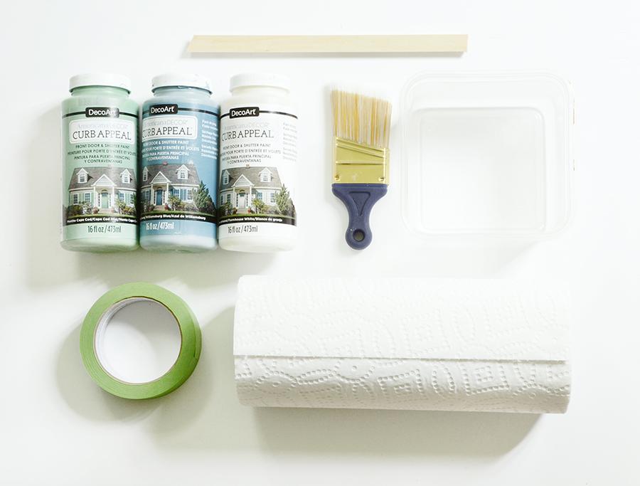 Como pintar os materiais de uma porta externa