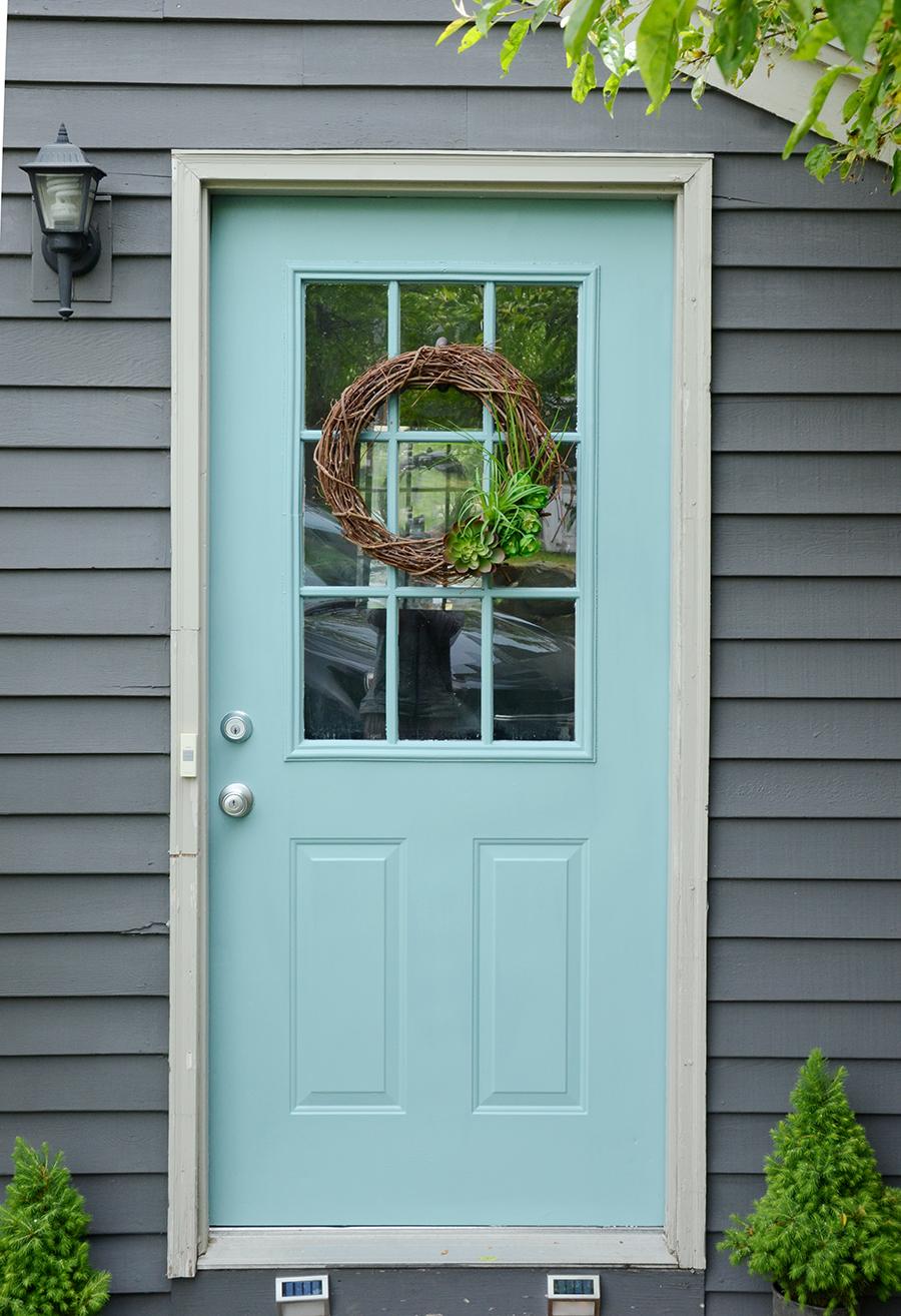Como pintar um processo de secagem de porta externa