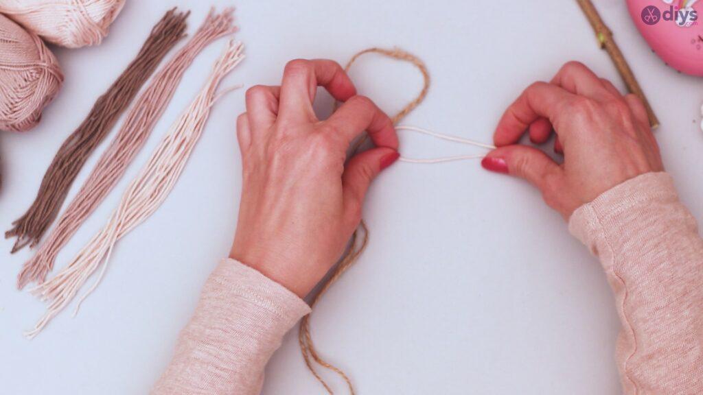 Tutorial de decoração de parede de folha de fio faça você mesmo (15)