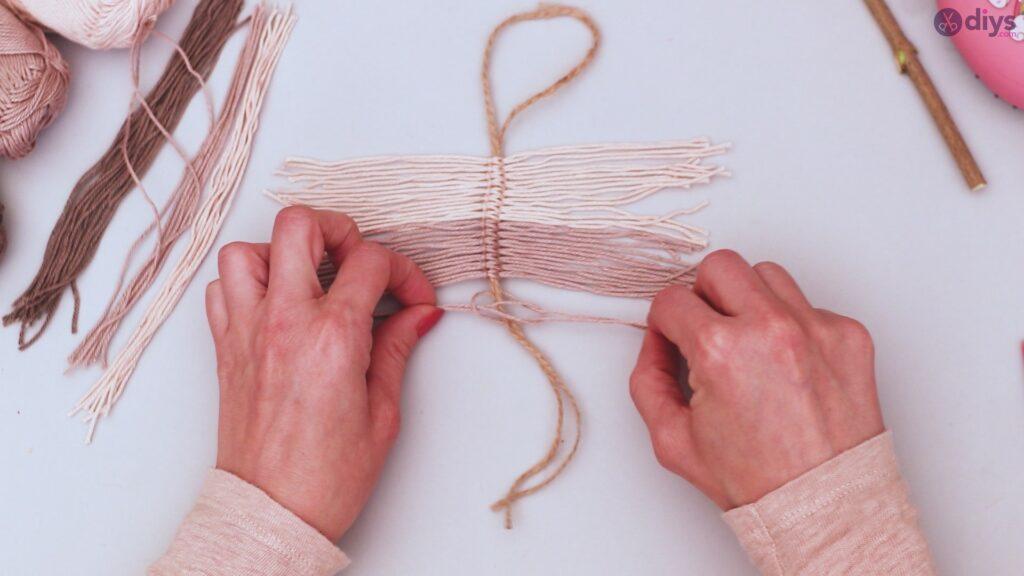 Tutorial de decoração de parede de folha de fio faça você mesmo (21)