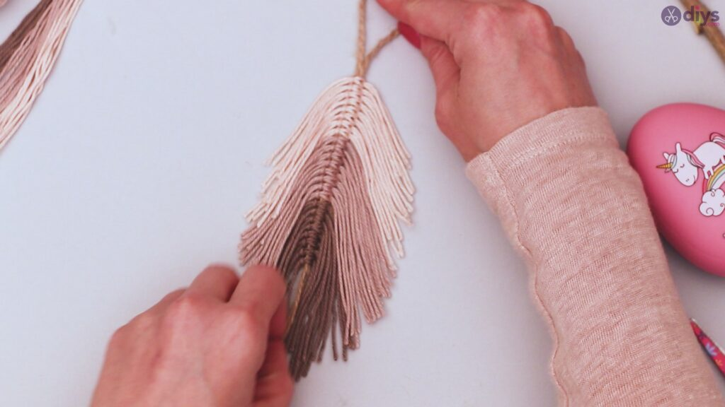 Tutorial de decoração de parede de folha de fio faça você mesmo (30)