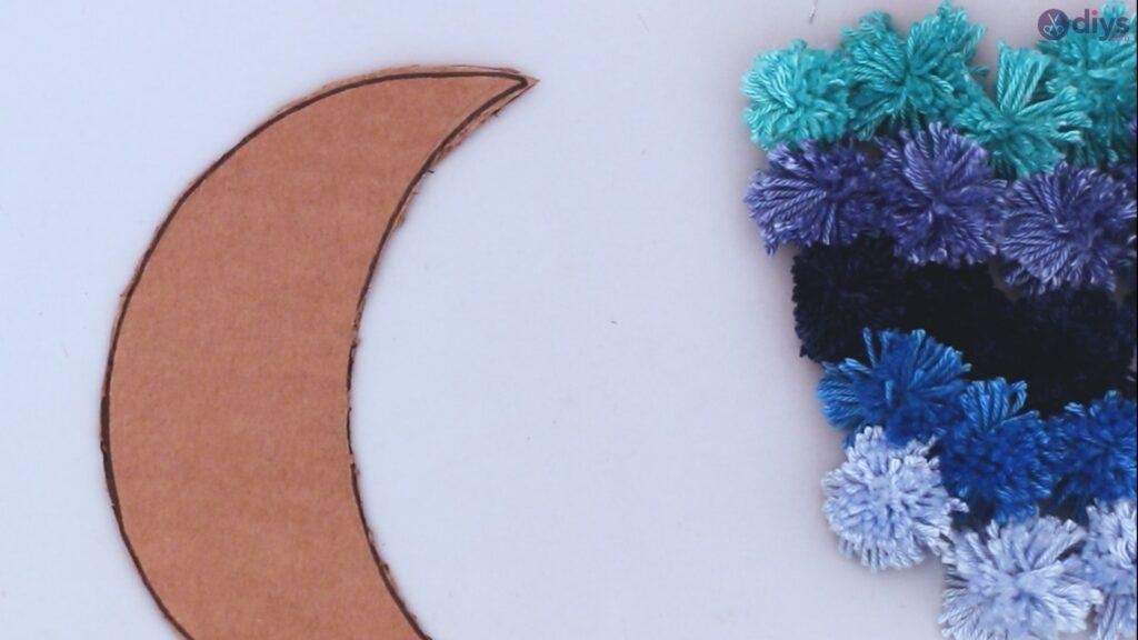 Decoração de parede DIY Pompom Moon (27)
