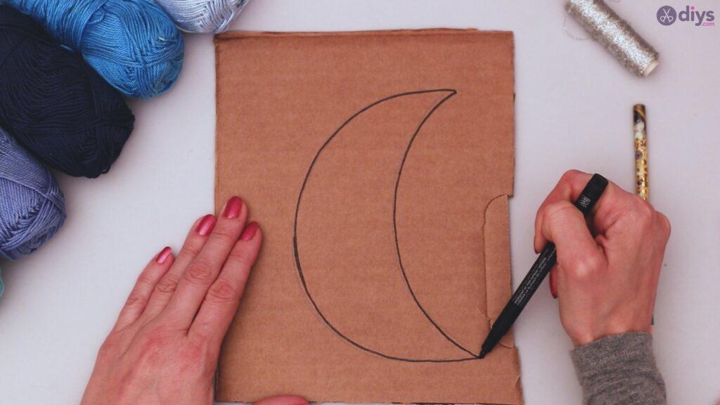 Decoração de parede DIY Pompom Moon (2)