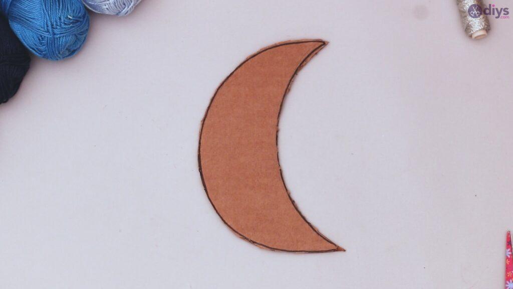 Decoração de parede DIY Pompom Moon (4)