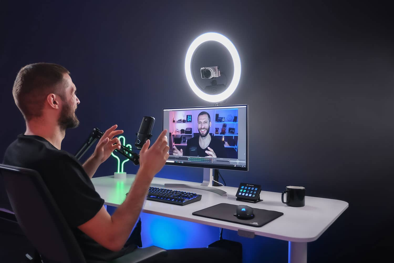 Elgato Ring Light ilumina seus streams e sessões de fotos.