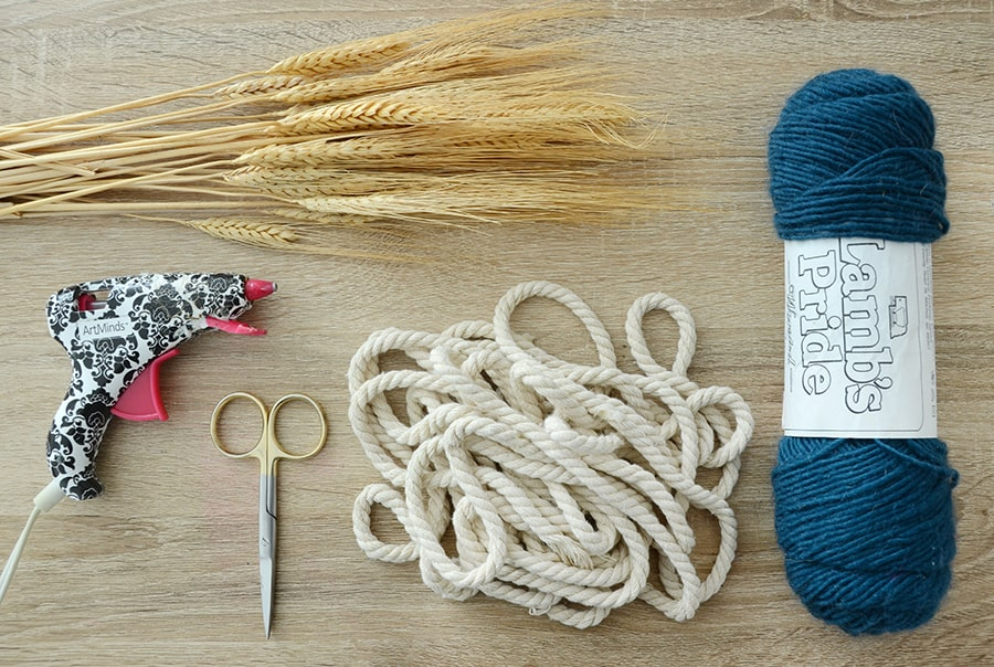 Grinalda de outono de trigo seco 1