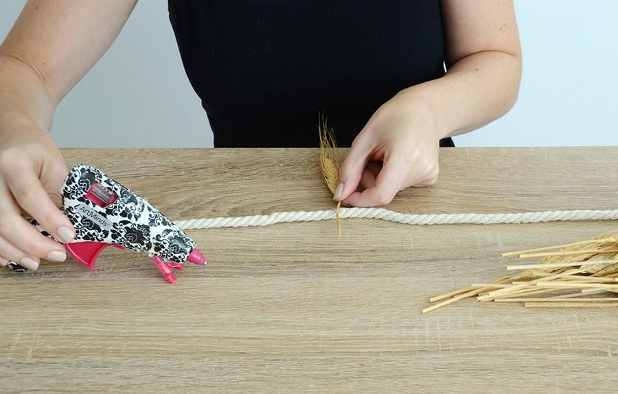 Grinalda de outono de trigo seco 3