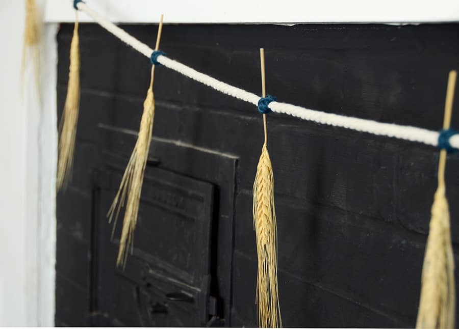 Grinalda de outono de trigo seco 11