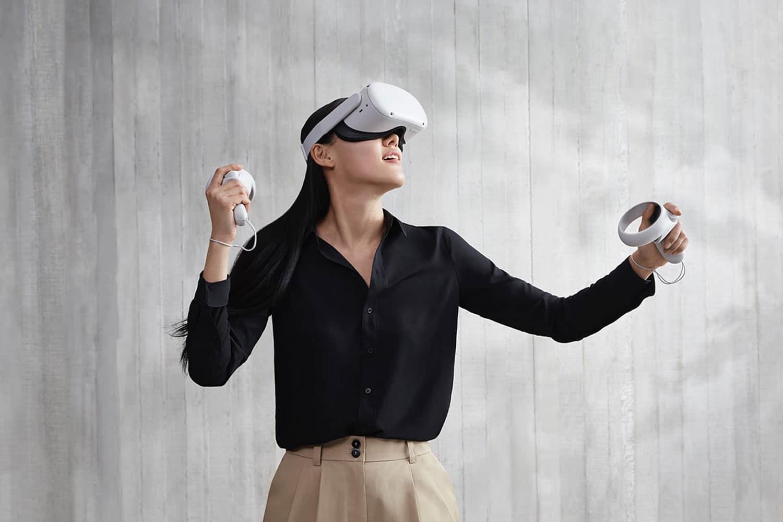 O Facebook está lançando um fone de ouvido Oculus Quest 2 VR mais poderoso e barato.