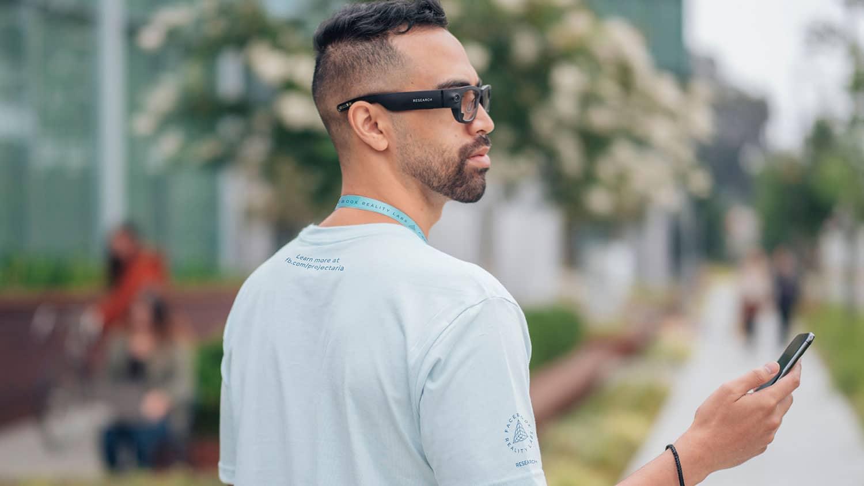 Facebook constrói óculos de realidade aumentada (AR).