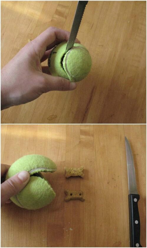 Guloseimas com bolas de tênis