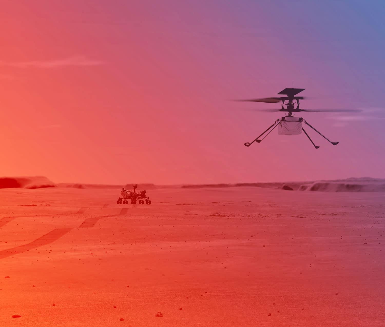 O Ingenuity Mars Helicopter da NASA está se preparando para seu primeiro vôo em Marte