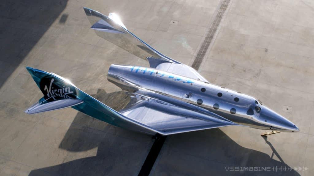 A Virgin Galactic apresenta sua primeira nave espacial III em sua crescente frota.