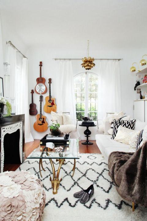 21 modelos de guitarras boêmias de sala de estar