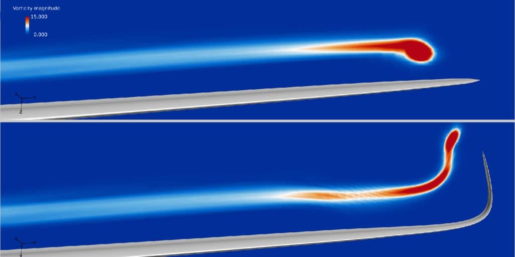 O novo conceito de ponta da lâmina reduz significativamente os custos de energia eólica